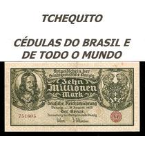 Danzig 10 Milhões Marcos 1923 P.25b Mbc Belíssima Rara