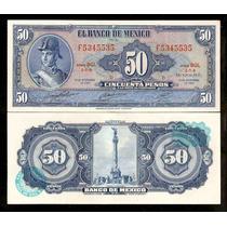 México 50 Pesos 1969 P. 49r S/fe Cédula - Tchequito