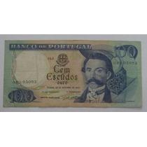 Portugal: Bela Cédula 100 Escudos 1965 Mbc+