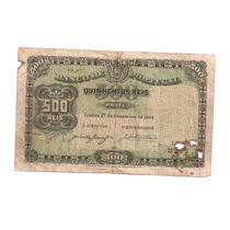 Cedula De Portugal- De 1904 - 500reis - Mbc -rarissima