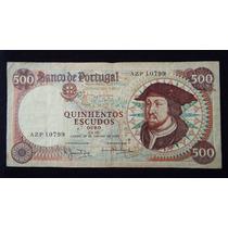 2446 - Cédula De Portugal 500 Escudos 1966 Mbc