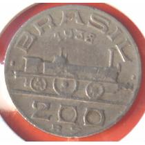 Moeda Antiga 200 Reis 1938, Visconde De Maua, M.b.c