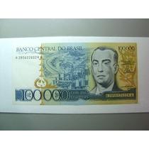 Rara Cédula 100 Mil Cruzeiros 1985 C176 Fe Kubitschek