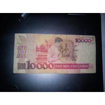 Cédula Brasileira 10000 Cruzados De 1988