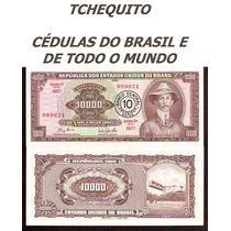 Brasil 10 Cruzeiros Novos C127 Fe Céd. Lev.manchas Tchequito