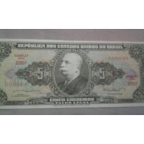 Cedula Nota De 5 Cruzeiros 2º Estampa Serie 3265 Sob/fe.