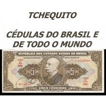 Brasil 5 Cruzeiros C065 S/fe Cédula Autografada - Tchequito