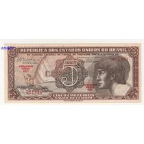 * C112 - 5 Cruz. 1962 - Cedula Do Índio Série 87 Fe *
