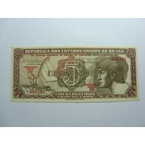 Linda Cédula 5 Cruzeiros Indio 1962 C112 Fe Série 093
