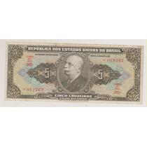 568 - 5 Cinco Cruzeiros Autografada C-065 Mbc + R$ 15,00