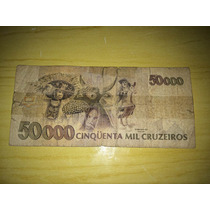 Nota De 50000 Cinquenta Mil Cruzeiros
