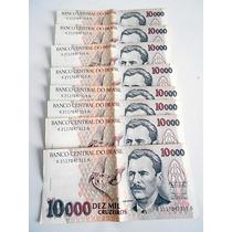 8 Cédulas Nota Dez Mil Cruzeiros - Vital Brasil - Sequência