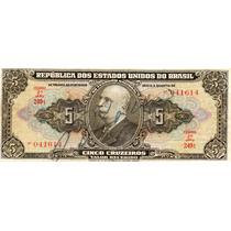 5 Cruzeiros C065 1950 Autografada Mbc Séire 249 - Lt0121