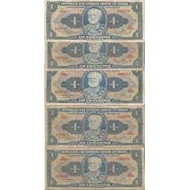 1 Cr$- Lote Com 9 Cedulas Numeros Interessante Circuladas.