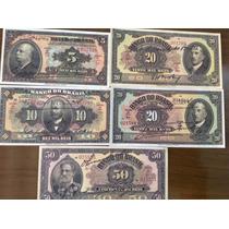 L1280 Mini Coleção 5 Cédulas Réis Banco Do Brasil - Réplicas