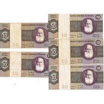 Cédula Dinheiro Antigo 10 Cruzeiros, D. Pedro Il, C-137, Mbc