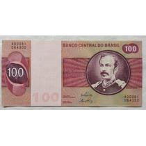 C145: Bela Cédula 100 Cruzeiros 1970 S/fe Rara