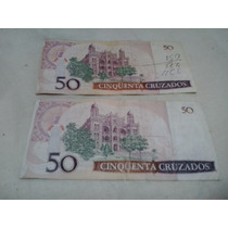 Cédulas Antigas 50 Cruzados - Notas Antigas - Dinheiro