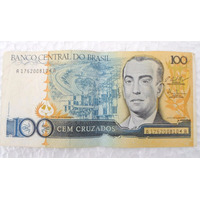 Cédula Dinheiro Antigo 100 Cruzados Juscelino Kubitschek