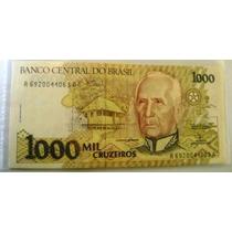Cédula Brasil 1.000 Cruzeiros C218 (fe)