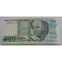 C215 - Bela Cédula De 200 Cruzeiros 1990 F E