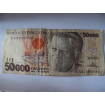 Cedula Nota 50.000 Cinquenta Mil Cruzeiros