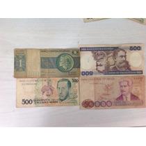 L-779 4 Cédula Usada Original Ncz$ 500 Cr$ 1/500/50.000 C172