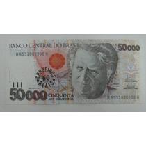 C234: Bela Cédula De 50 Cruzeiros Reis 1993 Fe