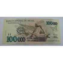 C235: Bela Cédula 100 Cruzeiros Reais 1993 Fe