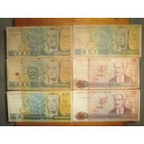 Lote De Cédulas Brasileiras Antigas Raras Nota Dinheiro