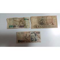 Cedulas Dinheiro Antigo Cruzeiros Lote Com 3 Notas