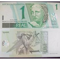 Cédula Nota De 1 Real Nova - Fe - Flor De Estampa