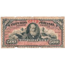 Brasil - R-09a, 500 Réis, Letra C, Série 59ª, Bc/mbc - Rara