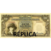 Ensaio Cédula 100 Mil Réis - Santos Dumont Não Circulada