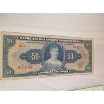 L-57 C024 Cédula Autografada Original De Cr$ 50,00 1943