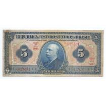 Brasil 5 Mil Réis 1942 R100c Mbc Cédula - Tchequito
