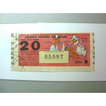 Raro Bilhete De Loteria Antigo 20 Milhões De Cruzeiros 1964