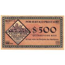 Rc0998 Raríssima Cédula 500 Réis Do Brejinho Das Ametistas