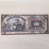 L-691 - R-104 - 1 Cédula 10 Mil Réis - Linda Réplica - 1907