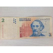 L-1295 - Maravilhosa Cédula 2 Pesos - Argentina - Original