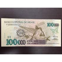 Cedula C235 - 100.000 Cruzeiros Reais, 1993 Fe