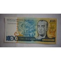 Cédula 100 Cruzados Kubitschek Brasil Moeda Antiga