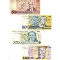 Lote 4 Cédulas De Cruzados Diferentes, Dinheiro Antigo