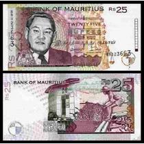 Mauritius Ilhas Maurício P-42 Fe 25 Rupees 1998 * Q J *