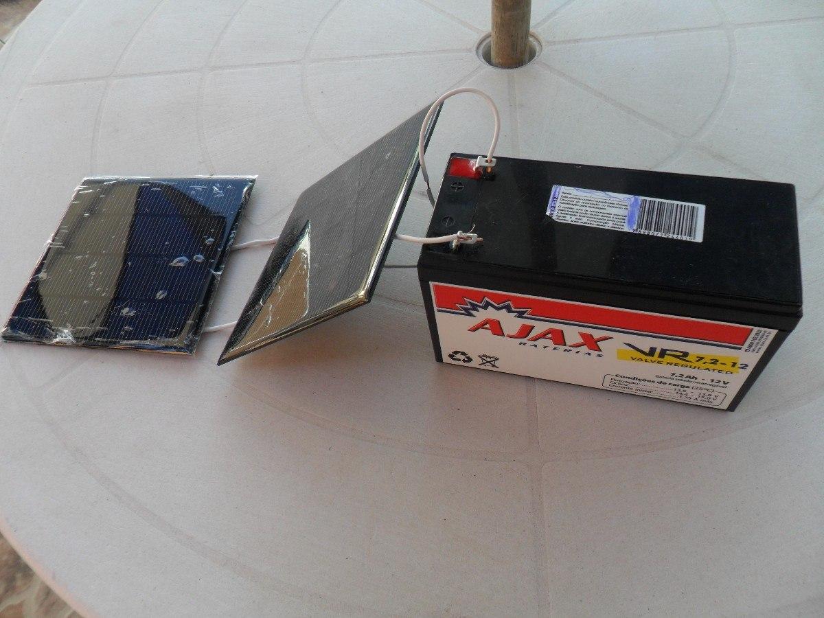 Célula Painel Placa Energia Solar Fotovoltaica 6v 400mah  R$ 79,00