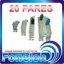 Bloco De Proteção 20 Pares P/ Caixas De Distribuição Armário