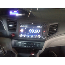Central Multimídia Civic Honda New Civic 2015 Moldura Preta