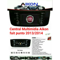 Central Multimídia Aikon Fiat Novo Punto 2013/2014/2015