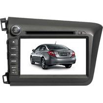 Kit Multimídia Honda Civic 2012 A 2014 Gps / Tv (cinza)