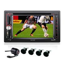 Central Multimídia Tv Gps Câmera Ré Sensor Estacionamento